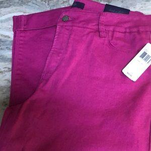 NYDJ PINK / purple Capri 10 slim fit NEW 84$